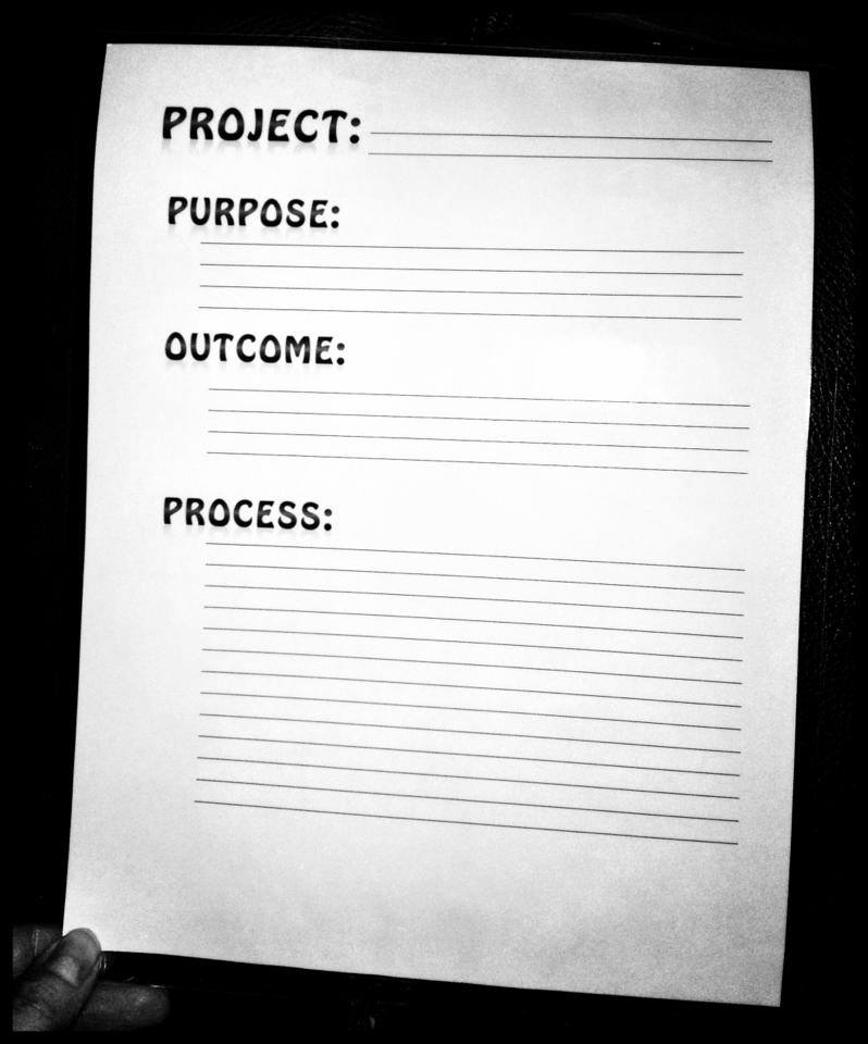 Purpose Outcome Process