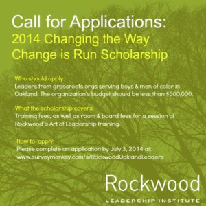 Changing the Way Change is Run Scholarship